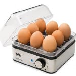 Fakir Egg Master cuiseur à œufs 8 œufs 400 W Noir, Acier inoxydable