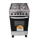 Cuisinière avec tourne broche Biolux 4 feux 50cm - Inox (5252X-TB)