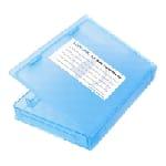 LogiLink UA0131 Housse de disques de stockage Bleu
