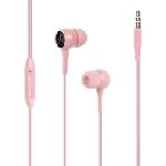Écouteurs stéréo avec micro Promate Bent - Rose
