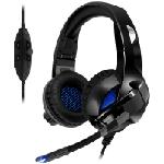 Spirit of Gamer XPERT-H300 Casque Arceau Noir, Bleu