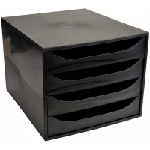 Exacompta 228014D unité de tiroir de bureau Noir