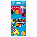Pack de 12 Crayons couleurs MAPED 12/18