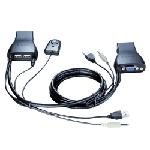 D-Link KVM-222 commutateur écran, clavier et souris Noir