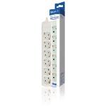 Valueline VLES600F001WH multiprise 6 sortie(s) CA Intérieure Blanc