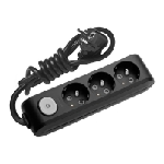 Multiprise Panasonic 3 prises avec Interrupteur 3m Noir