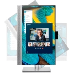 "HP EliteDisplay E243m 60,5 cm (23.8"") 1920 x 1080 pixels Full HD LED Noir, Argent"
