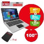 PC Portable VEGABOOK Pro Quad Core 2Go 32 Go Silver