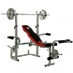 HAMMER Bermuda XT Banc de musculation olympique Noir, Rouge, Argent