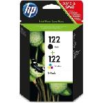 Pack de 2 Cartouches Jet d'encre HP 122 - Noir / 3 couleurs (CR340HE)