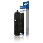 Valueline VLES300F001BL multiprise 1,5 m 3 sortie(s) CA Intérieure Noir