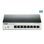 Switch D-Link 8 ports Gigabit 10/100/1000 Mbps PoE Smart green switch