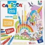 Carioca Pop-Up Unicorn Set de coloriage 3d