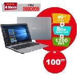 PC Portable ASUS X540BA Dual Core 4Go 1To - Silver (X540BA-NR189T)