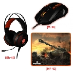 Pack Konix Worlds Of Tanks: Casque Gh-40 + Souris M-30 + Tapis Mp-12