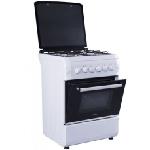 Cuisinière avec tourne broche MontBlanc 4 feux 60cm - Blanc (6060REB)