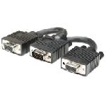 Manhattan 304559 câble VGA 0,015 m VGA (D-Sub) 2 x VGA (D-Sub) Noir