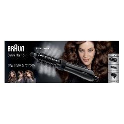 Braun Satin Hair 5 AS 530 Brosse soufflante à air chaud Noir, Argent, Violet 1000 W 2 m
