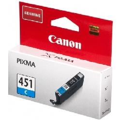 Cartouche Jet d'encre Canon Original CLI-451 - Cyan