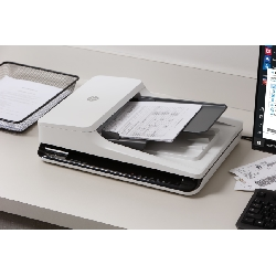 HP Scanjet Pro 2500 f1 Numériseur à plat et adf 1200 x 1200 DPI A4 Noir, Blanc