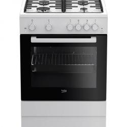 Cuisinière BEKO FSGT62110GW 60cm 4 feux - Blanc