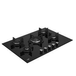 Beko HILW75222S plaque Noir Intégré (placement) 75 cm Gaz 5 zone(s)