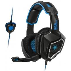Spirit of Gamer Xpert-H500 Casque Arceau Noir, Bleu